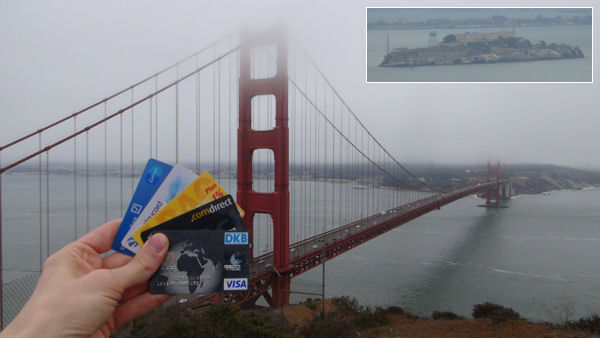 Golden Gate Bridge und Alcatraz