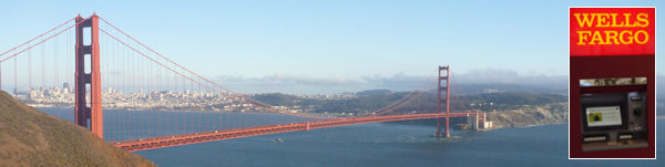 Golden Gate Bridge und Wells Fargo