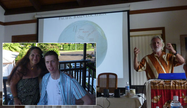 Hawaii-Seminar mit Kahuna und Professor
