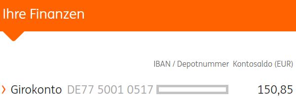 ING-DiBa Kreditkartenkonto