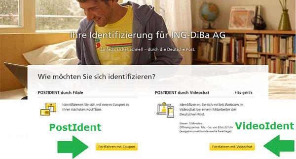 Legitimation zur Kontoeröffnung ING-DiDa