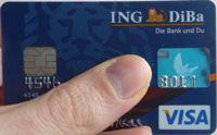 Visa Card der ING DiBa
