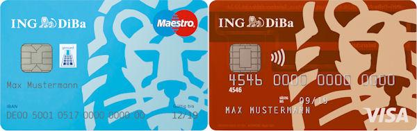 Жирокарта и карта Visa от банка ING-DiBa
