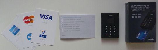Entrega de iZettle chip de lector de tarjetas y PIN