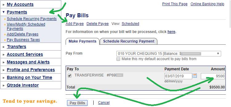 Kanada Pay Bills