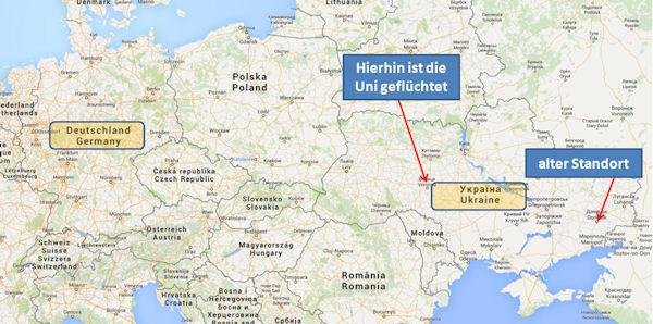 Karte: Deutschland und Ukraine