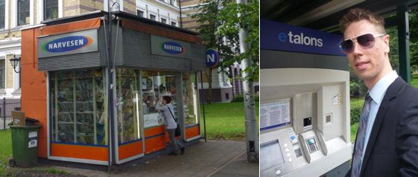 Fahrkartenkauf in Riga