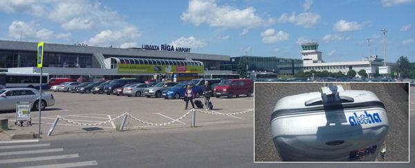 Flughafen Riga, verlorener Koffer mit Verspätung wieder da