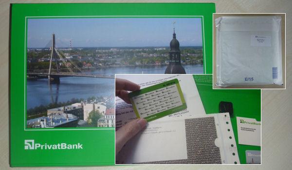 Kontoeröffnung Lettland – Paket mit Zugangsdaten