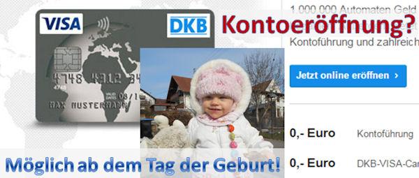 DKB Kontoeröffnung? Ab der Geburt möglich!