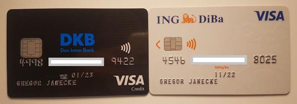 DKB und ING-DiBa Kreditkarten