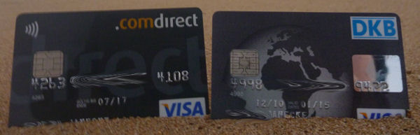 credit cards on the beach