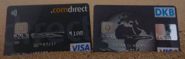 Kreditkarten am Strand