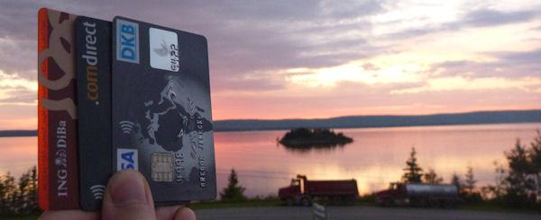 Kreditkarten für die Kanada-Reise