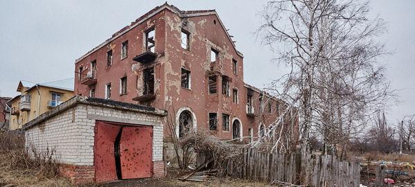 Kriegsschäden in Slovyansk