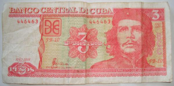 Kuba 3 Peso Schein