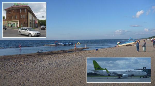 Riga: Strand, Bank und AirBaltic