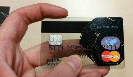 durchsichtige MasterCard von number26