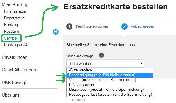 """8132230c31e43e Loggen Sie sich ins Online-Banking-System ein und gehen auf den Menüpunkt  """"Service"""""""
