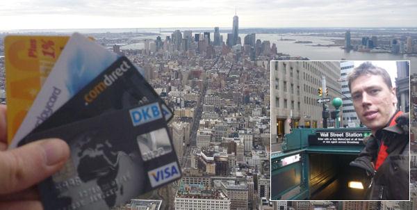 Test von Bankkarten in New York