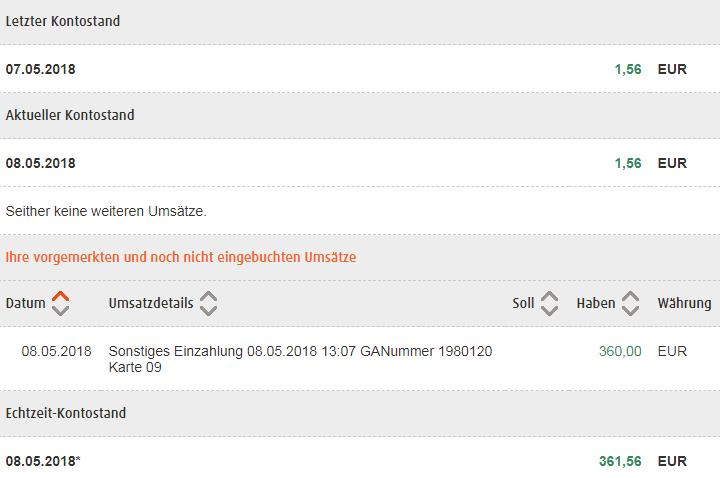Bargeld Einzahlen Kostenlos Via Deutsche Bank Norisbank Tipp