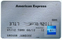 American Express Notfall-Karte.