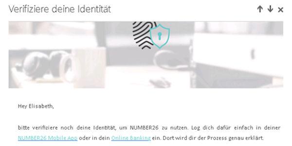 Identität-Verifizierung bei number26