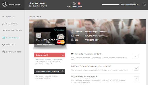 Number26 Online-Banking