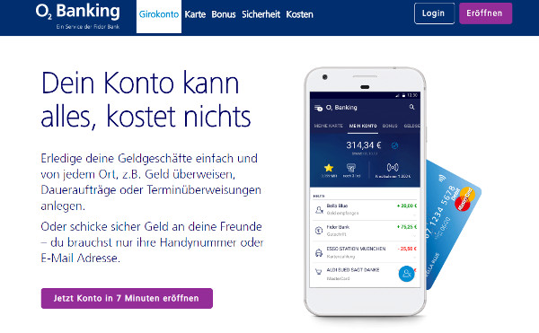 O2 Banking Konto