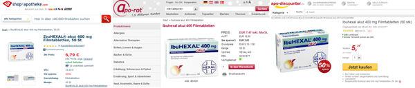 Preisunterschiede bei Online-Apotheken