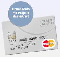 Online Konto mit Prepaid MasterCard
