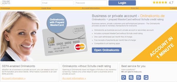 open online account in Germany – but in English