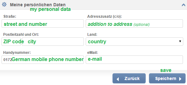 PayCenter Address | can be changed anytime