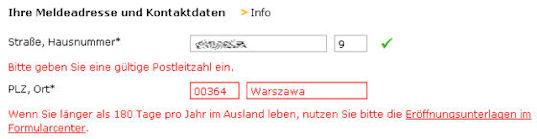 comdirect adres polska