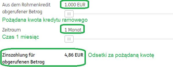 ING-DiBa Kredit in Höhe von 1.000 Euro