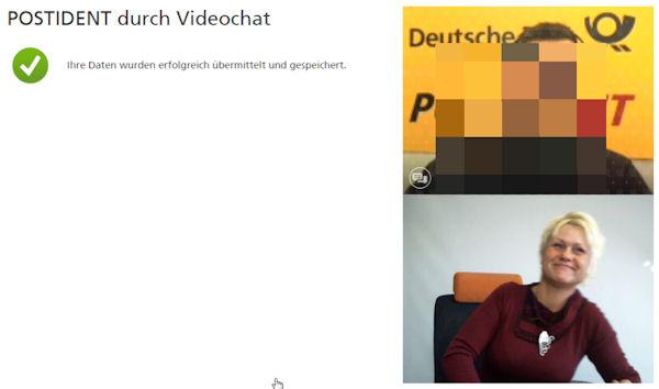 Postident через Videochat