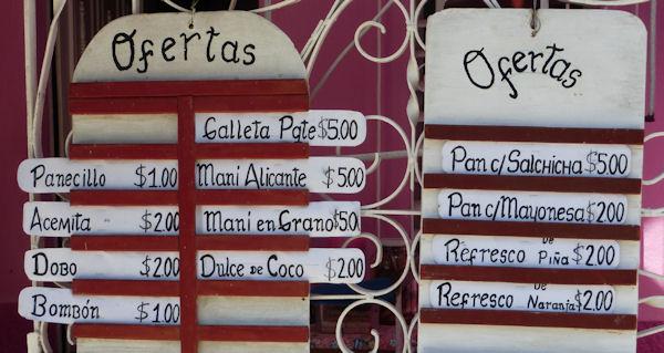 Preise in Kuba