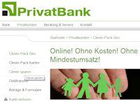 Girokonto der PrivatBank