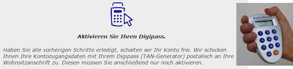 Digipass der RaboDirect