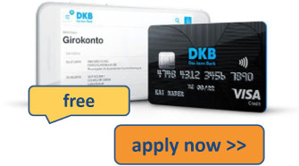 apply for free DKB account with credit card
