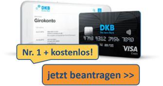 kostenloses DKB-Konto mit gebührenfreier Kreditkarte beantragen