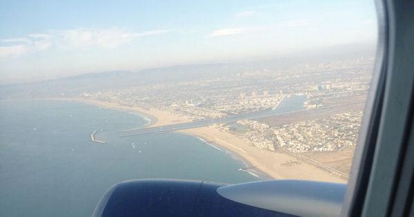 Abflug aus Los Angeles