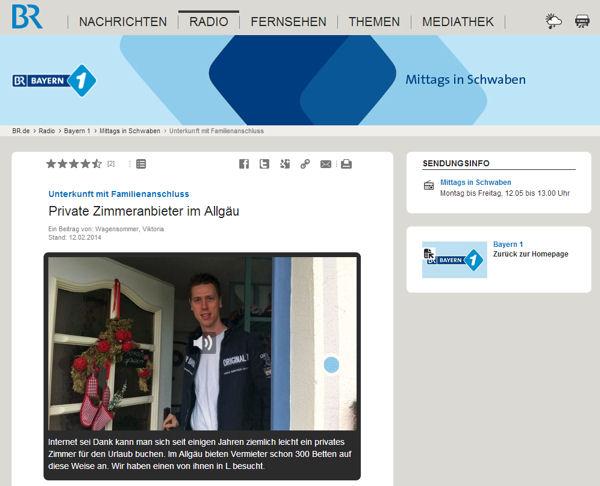 Bildschirmfoto vom Radiosender
