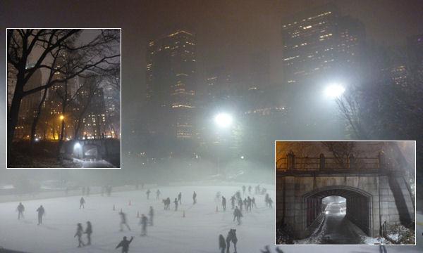 Central Park in Manhattan bei Nacht