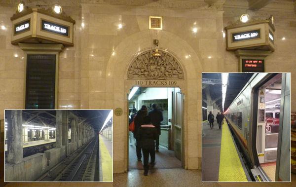 Zu den Zügen im Zentralbahnhof von New York