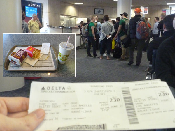 McDonald's im Delta-Terminal vom internationalen Flughafen Los Angeles