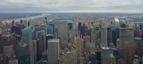 Blick auf den Central Park vom Empire State Building