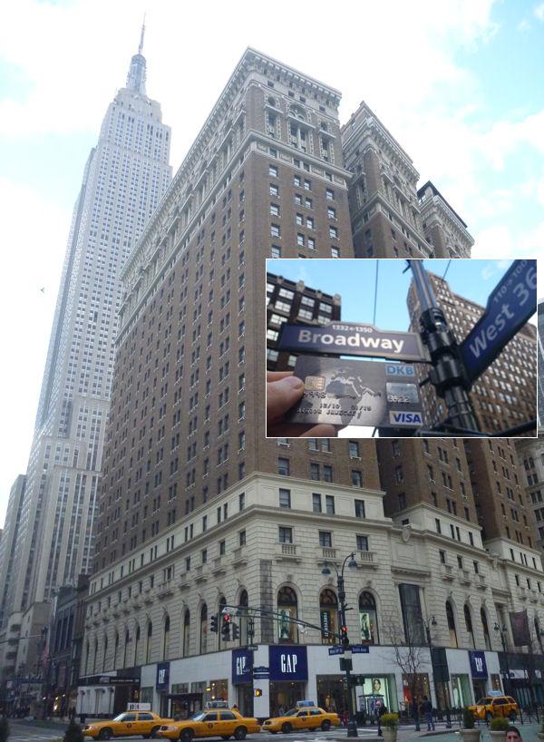 Empire State Building mit DKB Visa Card