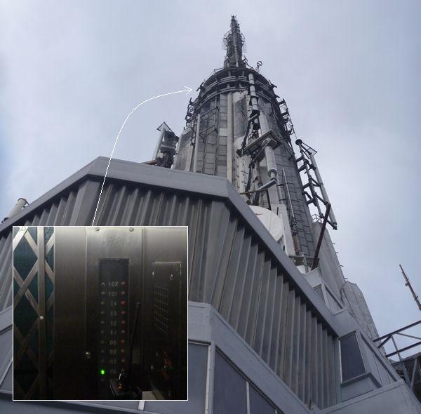 102. Etage des Empire State Buildings