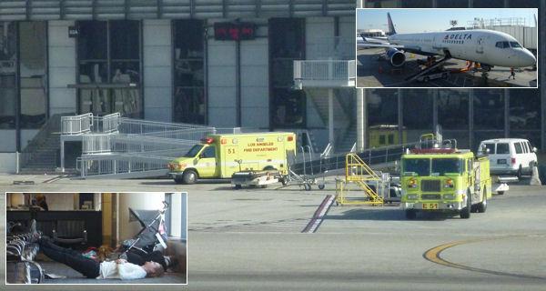 Feuerwehr auf dem Flughafen Los Angeles